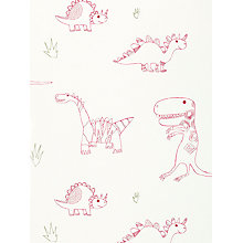 Buy Harlequin Wallpaper, Jolly Jurassic 70525, Red Online at johnlewis.com