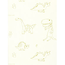 Buy Harlequin Wallpaper, Jolly Jurassic 70524, Green Online at johnlewis.com