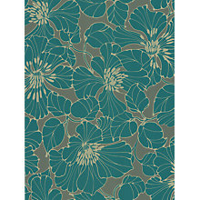 Buy Harlequin Wallpaper, Passion 30734, Teal Online at johnlewis.com