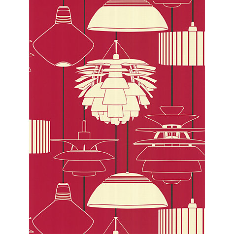 Buy Harlequin Wallpaper, Illuminate 75621, Red Online at johnlewis.com