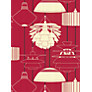 Harlequin Wallpaper, Illuminate 75621, Red