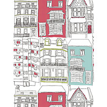 Buy Harlequin Wallpaper, Brighton 75627, Turquoise / Red Online at johnlewis.com