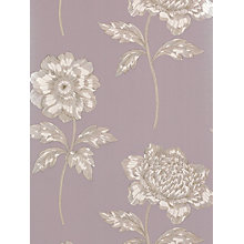 Buy Sanderson Anemone Wallpaper, DIOWAN108, Lilac Online at johnlewis.com