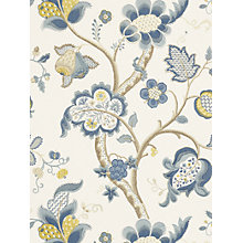 Buy Sanderson Roslyn Wallpaper, DVIWRO102, Indigo / Gold Online at johnlewis.com