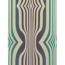 Buy Sanderson Concord Wallpaper, DVIWCO106, Plum / Teal Online at johnlewis.com