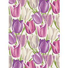 Buy Sanderson Early Tulips Wallpaper, DVIWEA101, Purple / Plum Online at johnlewis.com