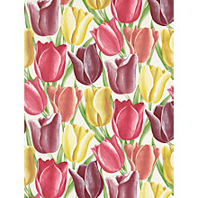 Buy Sanderson Early Tulips Wallpaper, DVIWEA103, Aubergine / Red Online at johnlewis.com
