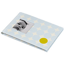 Buy Pearhead Small Memories Book, Blue Dots Online at johnlewis.com