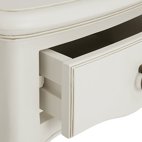 Buy John Lewis Sophia 1-drawer Bedside Table, Ivory Online at johnlewis.com