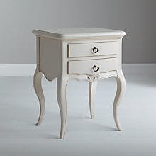 Buy John Lewis Sophia 2-drawer Bedside Table, Ivory Online at johnlewis.com