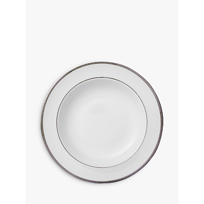 Vera Wang for Wedgwood Lace Platinum Soup Plate, White, Dia.23cm