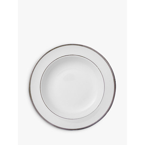 Buy Vera Wang for Wedgwood Lace Platinum Soup Plate, White, Dia.23cm Online at johnlewis.com