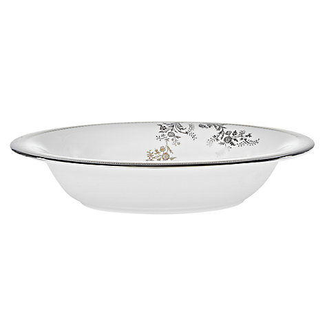 Buy Vera Wang for Wedgwood Lace Platinum Open Vegetable Dish Online at johnlewis.com