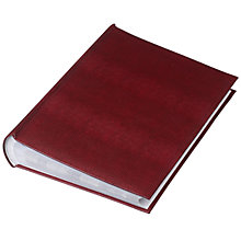 Buy John Lewis 5x7 Photograph Album, Lizard, Burgundy, 300 Online at johnlewis.com