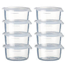 Buy John Lewis Baby Small Freezer Pots, Pack of 8 Online at johnlewis.com