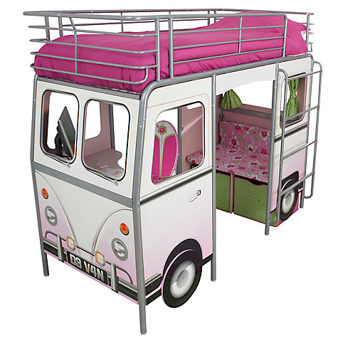 Buy De Van Surfer Cabin Bed, Pink Online at johnlewis.com