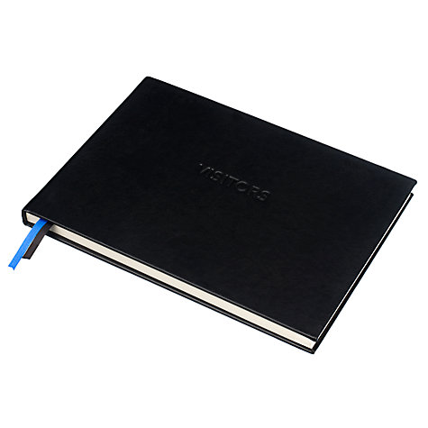 Buy John Lewis Visitors Book, Black Online at johnlewis.com