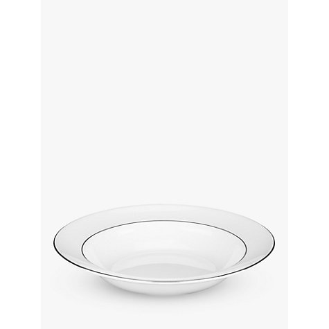 Buy Wedgwood Signet Platinum Soup Plate, White, Dia.20cm Online at johnlewis.com