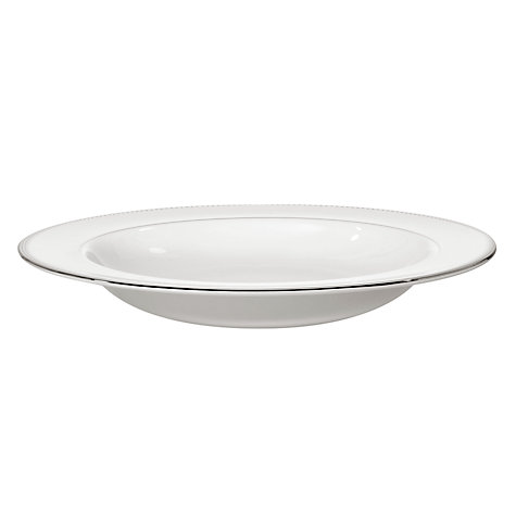 Buy Vera Wang for Wedgwood Grosgrain Pasta Plate, White, Dia.28cm Online at johnlewis.com