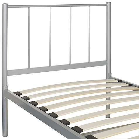 Buy John Lewis The Basics Apollo Bedstead, Metallic, Single Online at johnlewis.com
