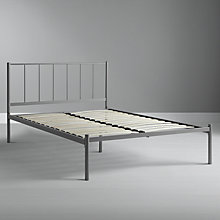 Buy John Lewis Value Apollo Bedframe, Silver Metal, Small Double Online at johnlewis.com