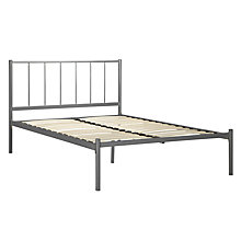 Buy John Lewis The Basics Apollo Bedstead, Silver Metal, Small Double Online at johnlewis.com