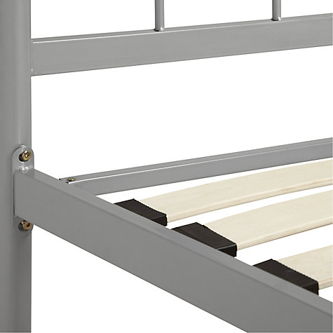 Buy John Lewis The Basics Apollo Bedframe, Silver Metal, Small Double Online at johnlewis.com