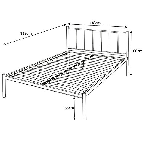 Buy John Lewis The Basics Apollo Bedstead, Metallic, Double Online at johnlewis.com