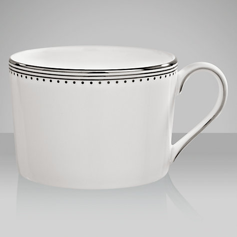 Buy Vera Wang for Wedgwood Grosgrain Teacup, 0.15L, White Online at johnlewis.com
