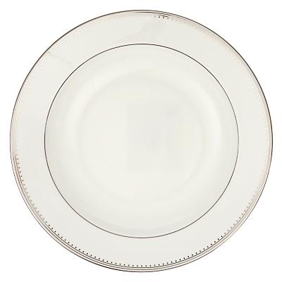 Vera Wang for Wedgwood Grosgrain Soup Plate, White, Dia.23cm