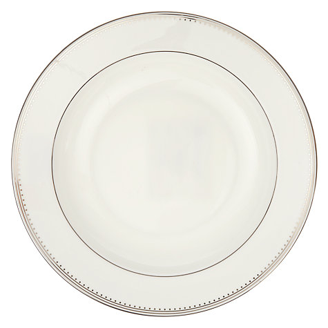 Buy Vera Wang for Wedgwood Grosgrain Soup Plate, White, Dia.23cm Online at johnlewis.com