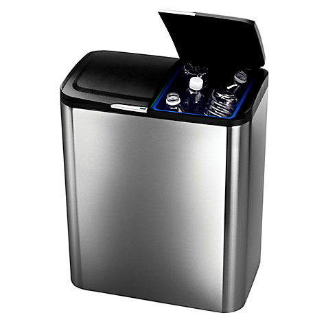 Buy simplehuman Flip Lid Recycler Bin, 30L Online at johnlewis.com