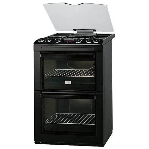 Buy Zanussi ZCG662GNC Gas Cooker, Black Online at johnlewis.com