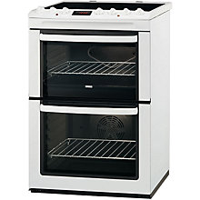 Buy Zanussi ZCV663MWC Electric Cooker, White Online at johnlewis.com