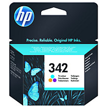 Buy HP 342 Inkjet Cartridge, Tri-Colour, C9361EE Online at johnlewis.com