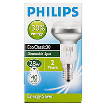 Buy Philips R50 SES Bulb, 28W Online at johnlewis.com