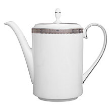 Buy Vera Wang for Wedgwood Lace Platinum Coffee Pot, 1L Online at johnlewis.com
