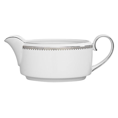Buy Vera Wang for Wedgwood Lace Platinum Sauce Boat Stand Online at johnlewis.com