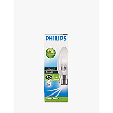 Buy Philips Halogen Classic Clear BC Candle Bulb, 42W Online at johnlewis.com
