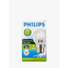 Buy Philips Halogen Classic Clear BC Golf Ball Bulb, 42W Online at johnlewis.com
