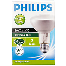 Buy Philips 42W ES NR80 Spotlight Bulb, Clear Online at johnlewis.com