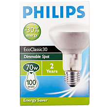 Buy Philips NR80 ES Spotlight Bulb, 70W Online at johnlewis.com