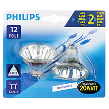 Buy Philips GU5.3 Halogen Bulb, 20W, Pack of 2 Online at johnlewis.com