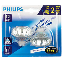 Buy Philips GU5.3 Halogen Bulb, 35W, Pack of 2 Online at johnlewis.com