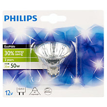Buy Philips EcoHalo GU5.3 MR16 Bulb, 35W Online at johnlewis.com