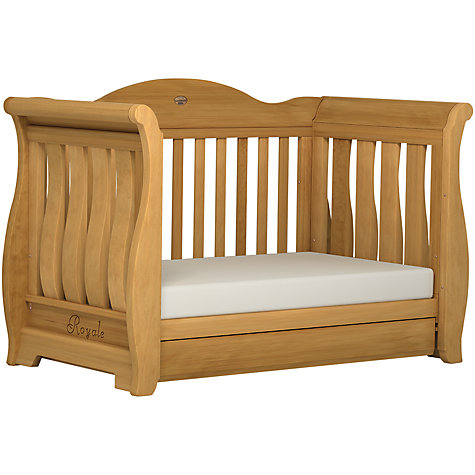 Buy Boori Sleigh Royale Cot/Cotbed, Heritage Teak Online at johnlewis.com