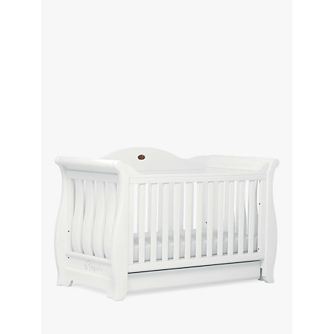 Buy Boori Sleigh Royale Cot/Cotbed, White Online at johnlewis.com