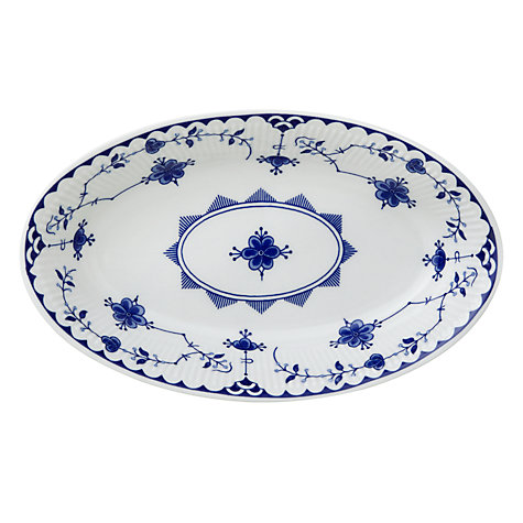 Buy Johnson Brothers Blue Denmark Sauce Boat Stand Online at johnlewis.com