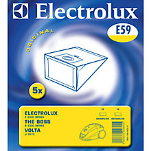 Buy Electrolux E59 Vacuum Cleaner Bags, Pack of 5 Online at johnlewis.com