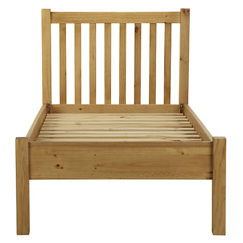 Buy John Lewis Value Apollo Bedstead, Metallic, Single Online at johnlewis.com
